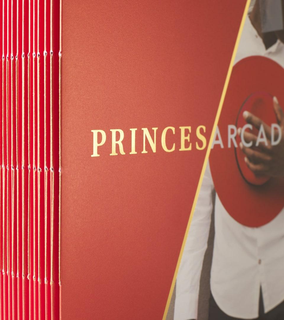 property marketing for princes arcade London - brochure