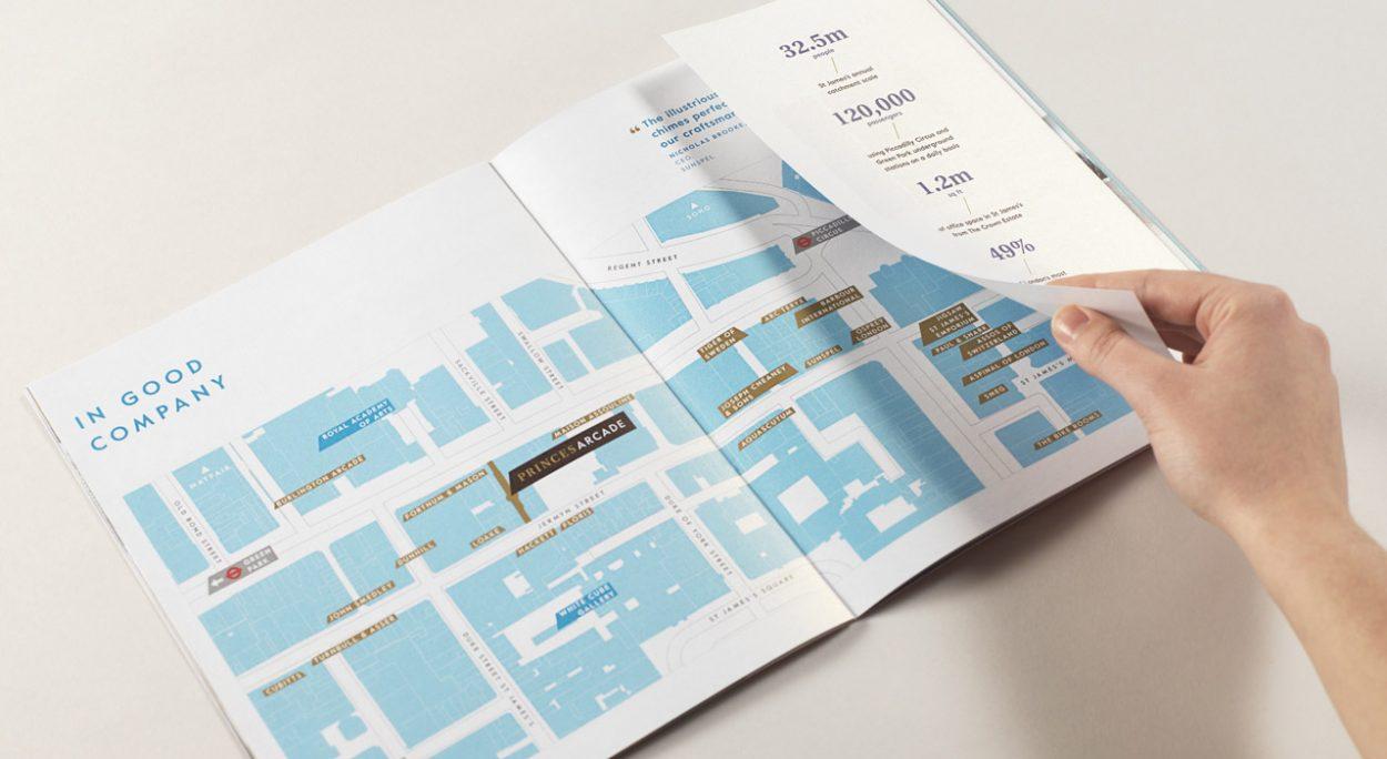 property marketing for princes arcade London - floor plan