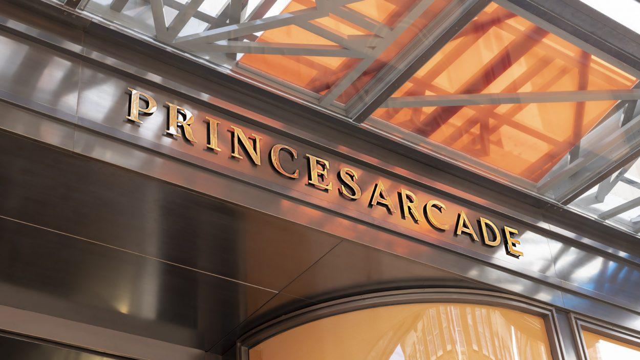 property marketing for princes arcade London - vinyl