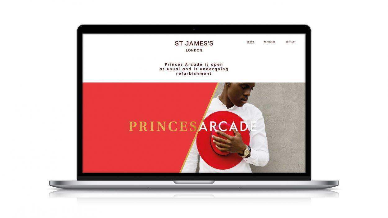 property marketing for princes arcade London - website