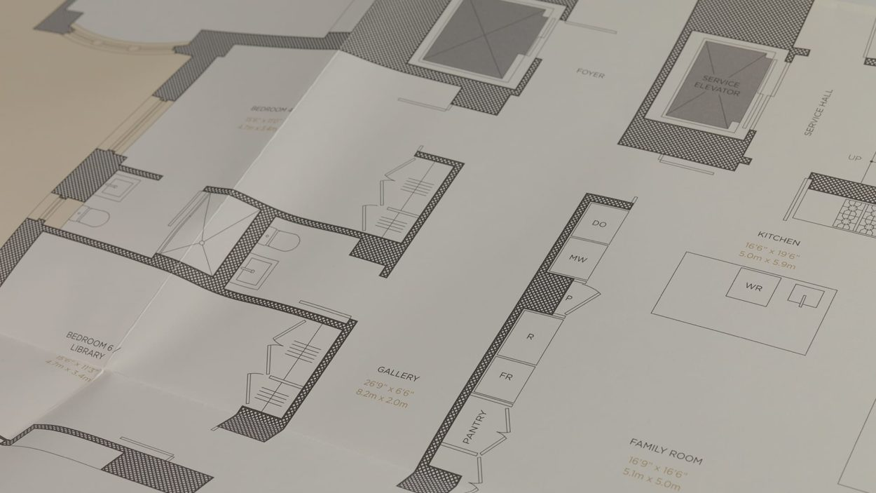 real estate branding for the marquand - floor plans 3