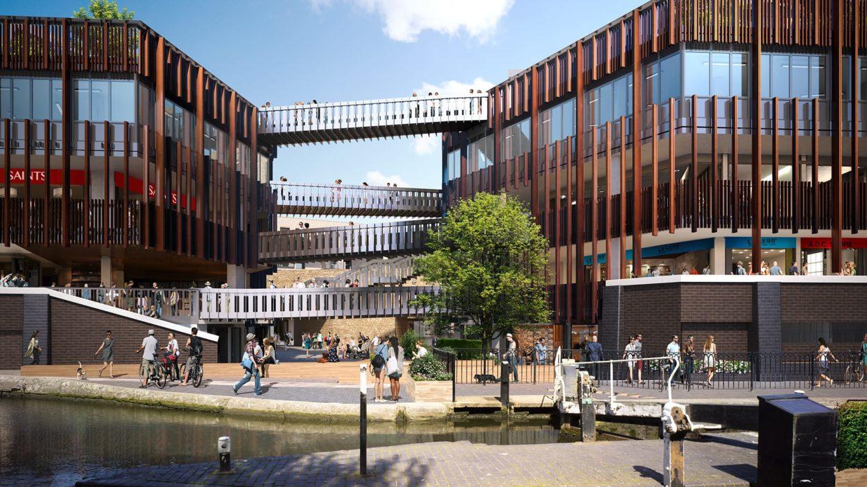 property marketing for hawley wharf camden - rendering 1