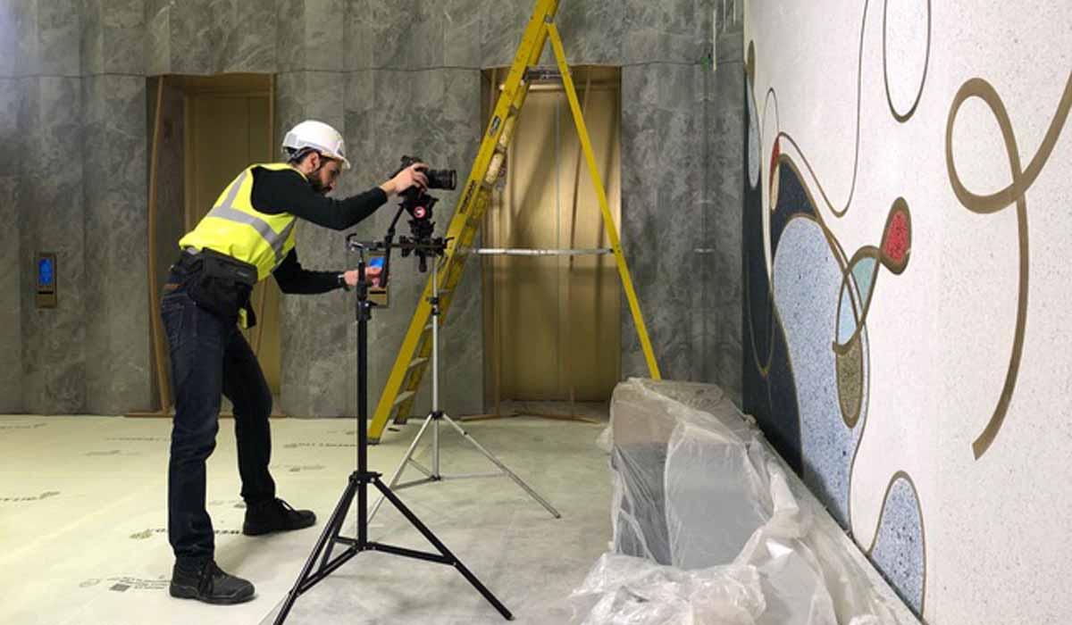 property marketing for the marq, london - lobby art
